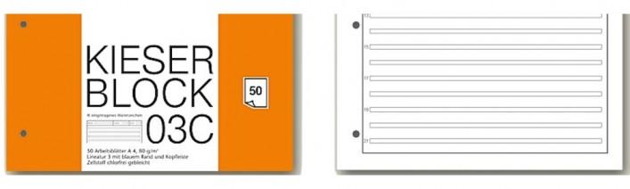 Kieserblock verschiedene Lineaturen, A4