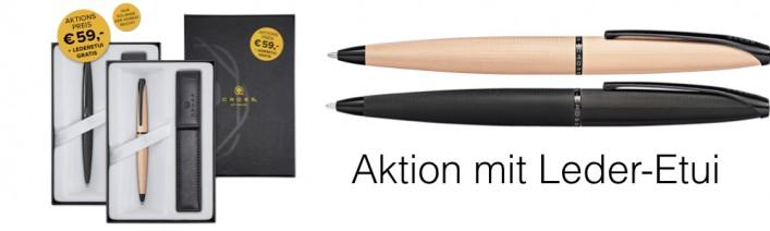 ATX Kugelschreiber mit Gravur Aktion mit Leder Etui