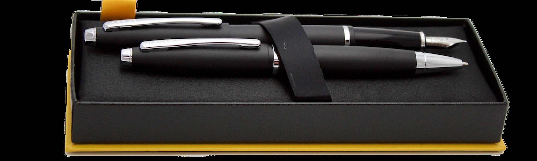 Aktions-Set CALAIS Füller,Kugelschreiber mit Etui