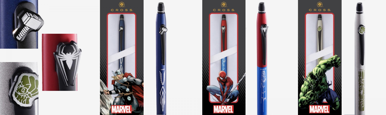 Click Marvel Edition Spider-man, Hulk, Thor-Gelstift