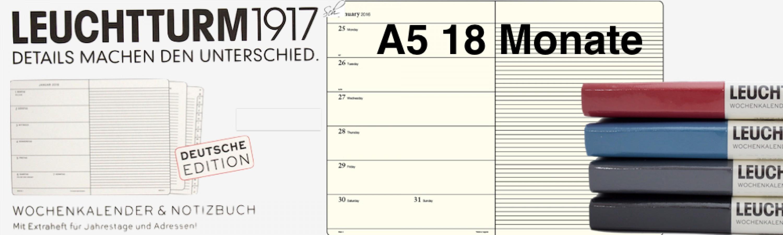 Wochenplaner/Kalender 2019 mit Notiz  18 Monate