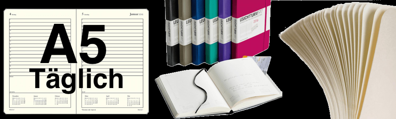 Leuchtturm1917 Tageskalender 2018 A5 - Schreibkultur & Papeterie
