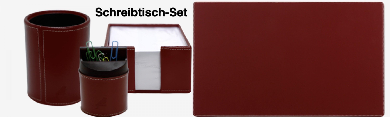 Schreibtisch Set  LUCCA Echt Leder