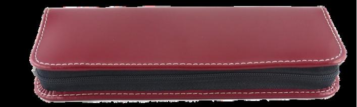 Lehrer Schreibgeräte Etui Leder in 4 Varianten mit Zip