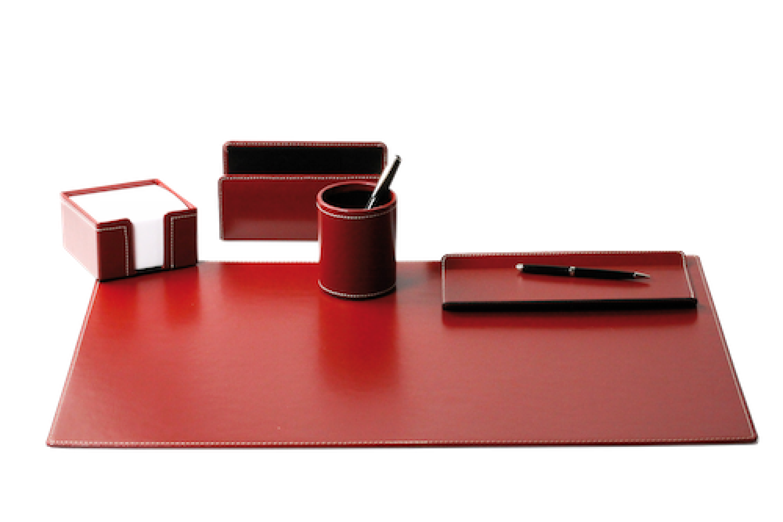 Schreibtisch Set Echt Leder
