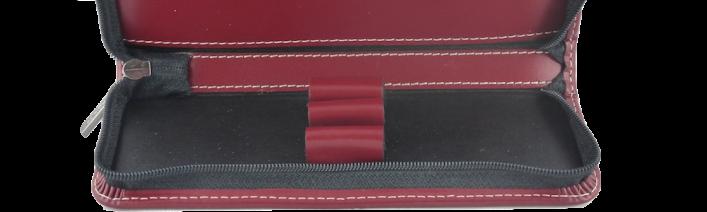 Etui Leder 3er mit Reißverschluss