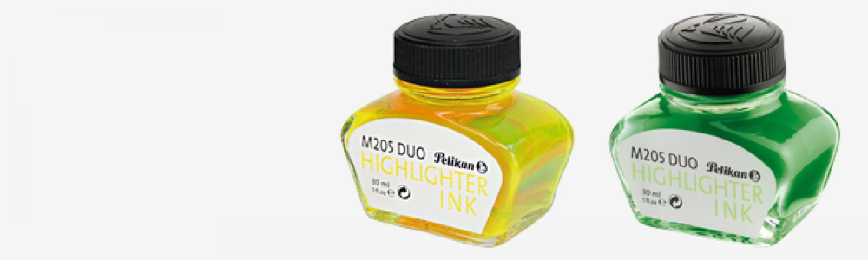 Textmarker-Tinte im Glas