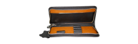 Etui aus Leder für 4 Schreibgeräte mit Reißverschluss