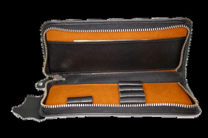 Etui aus Leder für 3 Schreibgeräte mit Reißverschluss
