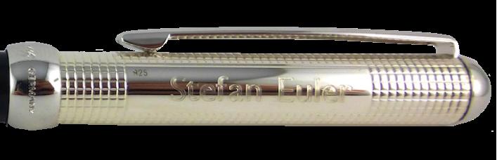 CHESS Füller mit Gravur in 925er Silber