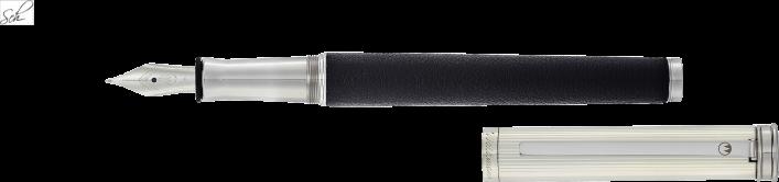 SOLON Füller aus Sterling Silber mit Leder