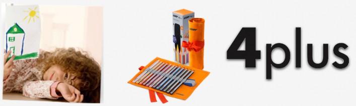 4plus Farbstifte Buntstifte Ideal für Vorschule und Erstklässler