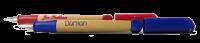 abc Schreiblernfüller mit Gravur rot und blau Lernfüller/Schreiblernstift
