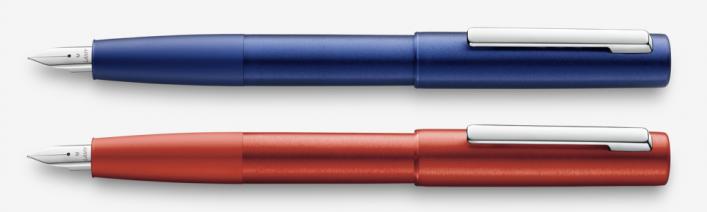 aion rot und blau Füller mit Gravur