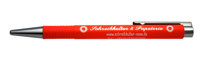 Logo LASER ORANGE Kugelschreiber inkl. Gravur