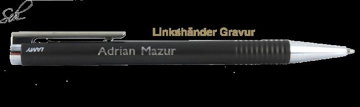 Logo strichmattiert 206 Kugelschreiber mit Gravur