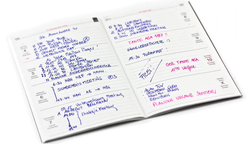 Wochenkalender Einlage Quer 2020 A5, A6